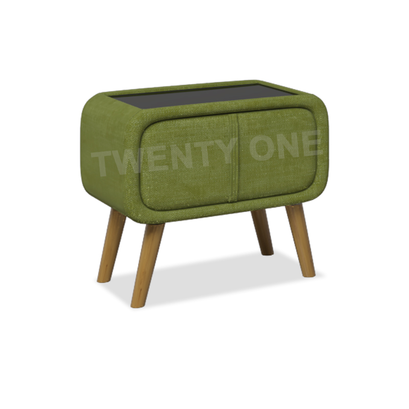 ASHER FABRIC BEDSIDE TABLE