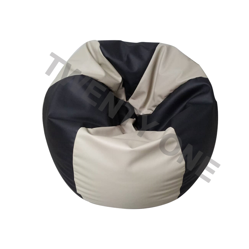 HASSOCK LEATHER BEAN BAG TWO TONE COLOUR