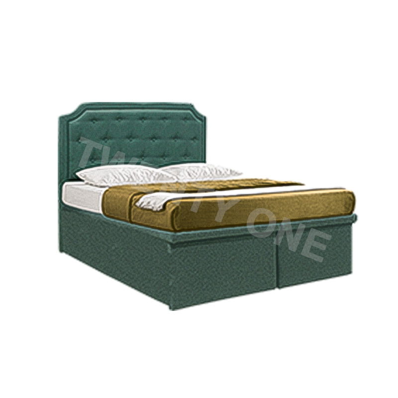 BEAR FAUX LEATHER  STORAGE BED FRAME A