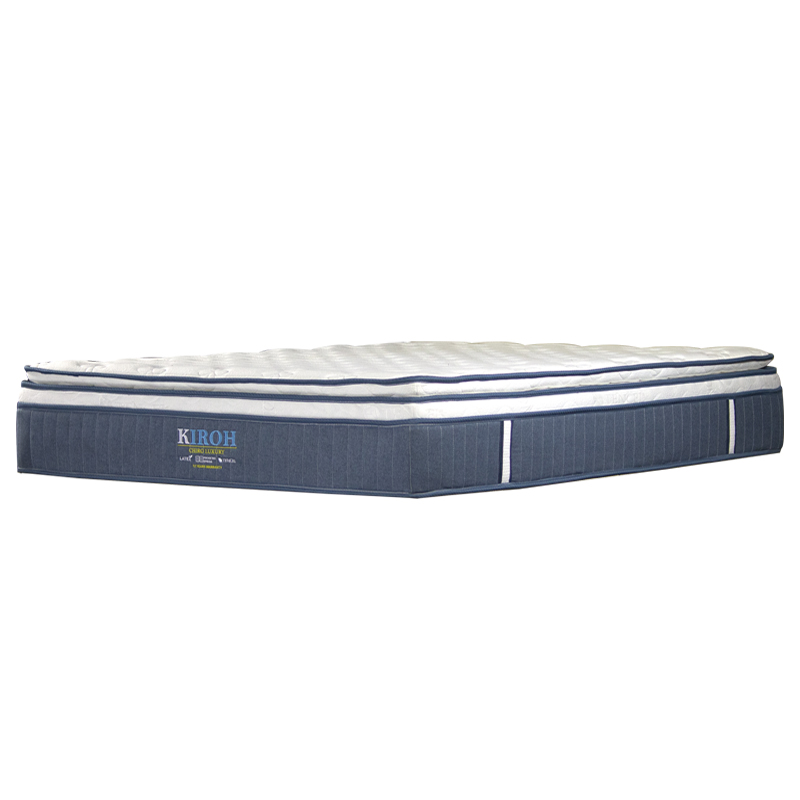 KIROH CHIRO LUXURY EURO TOP WITH PILLOW TOP POCKETED SPRING MATTRESS 12 INCH