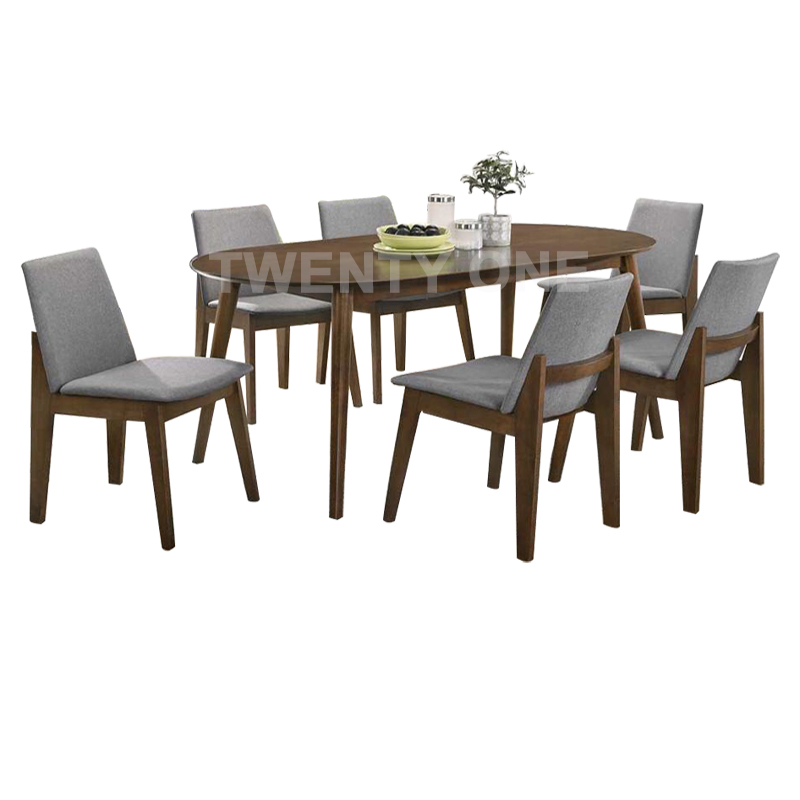 GABRIEL DINING TABLE SET (1+6)