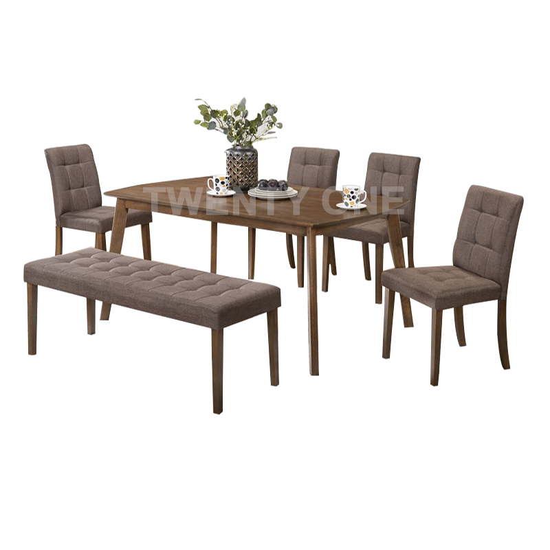 CORK DINING TABLE SET (1+4 +1)
