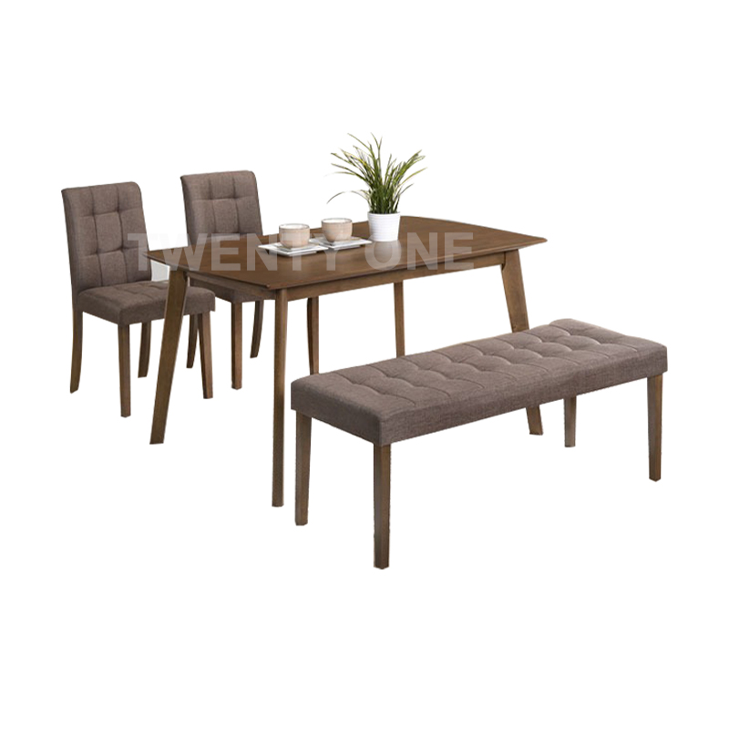 CORK DINING TABLE SET (1+2+1)