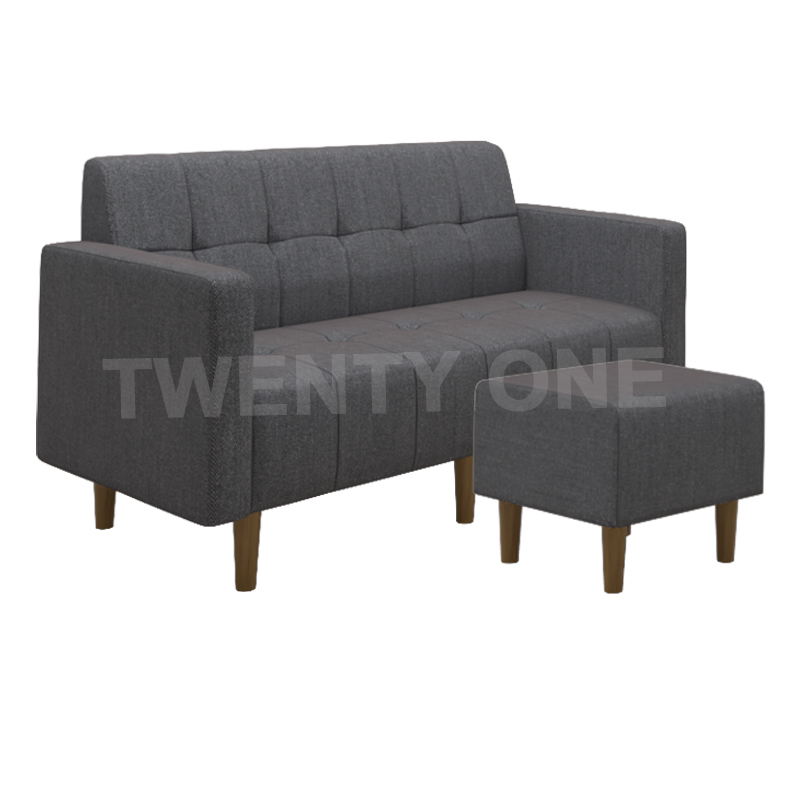 CAMERON FABRIC SEATER SOFA WITH STOOL MODEL 1