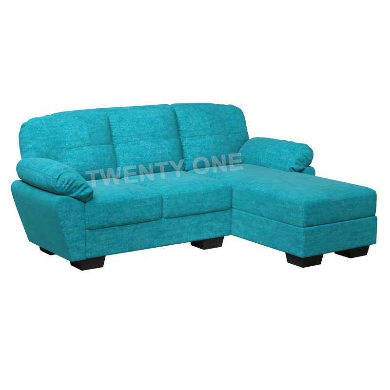 ALLIUM FABRIC SEATER WITH CHAISE SOFA