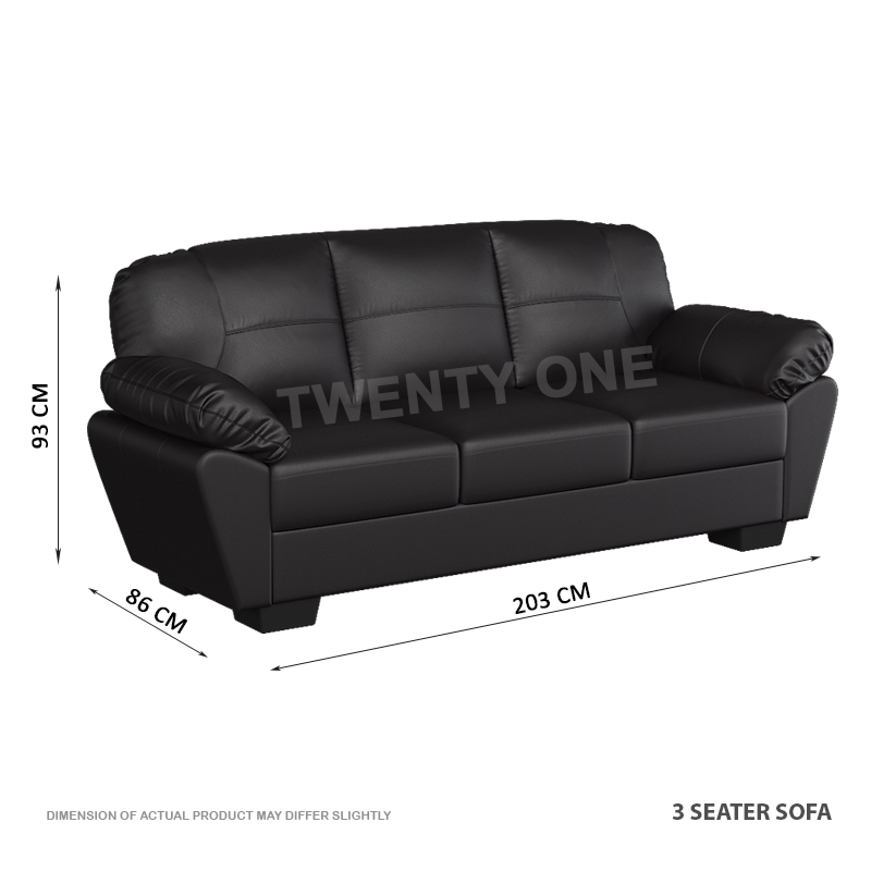 MY SKH 2425 Faux Leather Sofa Interior